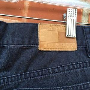 Tommy Hilfiger Shorts - Tommy Hilfiger Solid Blue Short Shorts, Size 6